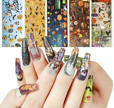10 X HALLOWEEN Nail Art Foils Nail Transfer Foil Wraps Decal Glitter Stickers