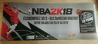 Double-sided Promo Poster : NBA 2K18 & W2K18 Xbox One Playstation 4 Ps4 Switch