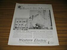 1930 Print Ad Western Electric Public Address System Built-In Music