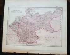 Antique Map - THE GERMAN EMPIRE - Warner & Beers/Union Atlas Co. 1876