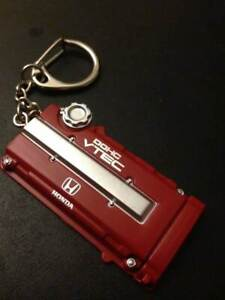Honda Style B16 Civic Type R Si Engine DOHC Valve Cover KeyChain VTEC JDM