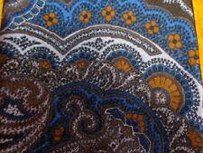 DANIEL CREMIEUX ~7 FOLD MENS SILK TIE 5/143 ~BLUE BROWN PAISLEY ~XL TALL LONG 61