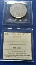 1904-B STRAITS SETTLEMENTS $1 Dollar Silver Coin Edward VII ICCS VF-30