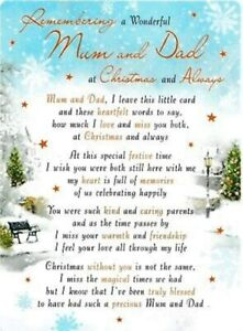 Christmas Graveside Memorial Card -  Mum & Dad Brother Sister Son Daughter Wife