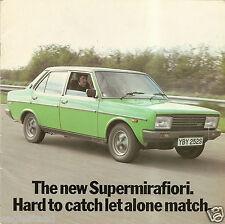 Auto Brochure - Fiat - Supermirafiori - Specs Vs Coimpetitors - 1978 (AB532)