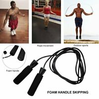Pro Skipping Rope Adjustable Speed Jump Fitness Workout Jumping Gym Rope