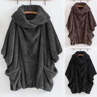 ZANZEA Women Winter Casual Long Sleeve Baggy Warm Sweater Tops Coat Outwear