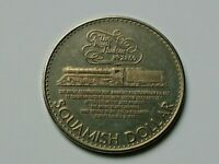Squamish BC CANADA 1979 Trade DOLLAR Token with CPR Locomotive & Type A Variety