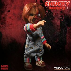 """Child's Play 3 Pizza Face Chucky 15"""" Talking Doll Mezco - Official"""