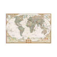 World Wall Map Large Poster Decor Non-woven Fabric P15
