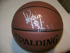 DAVID ROBINSON SAN ANTONIO SPURS SIGNED I/O BASKETBALL W/COA