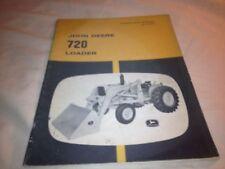 JOHN DEERE SCRAPER 720 LOADER OPERATORS MANUEL