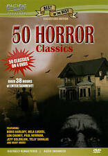 50 Horror Classics (DVD, 2010, 4-Disc Set) DVD IN GOOD CONDITION! DISC AND CASE