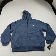 US Polo Assn Mens Sherpa Lined Zip Fleece Hoodie Jacket 2X XXL 3X XXXL MSRP $80
