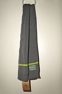 """PENGUIN by MUNSINGWEAR Men's """"Charcoal"""" Gray/Green Striped Scarf Accessory NWT"""