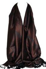 Châles/écharpe marron avec des motifs Cachemire pour femme
