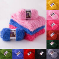 Soft Mohair Wool Cashmere Yarn DIY Hand Knitting Crochet Yarn For Sweater Thread