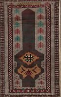 Geometric Balouch Afghan Oriental Area Rug Wool Hand-Knotted 2'x4' Foyer Carpet