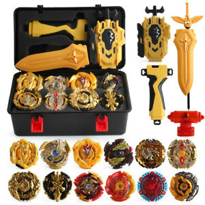 12PCS Beyblade Gold Burst Set Spinning With Grip Launcher+Portable Box Case ###