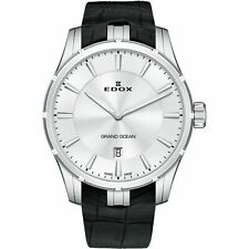 Edox 560023CAIN Men's Grand Ocean Silver-Tone Quartz Watch