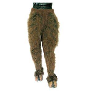 Krampus Legs & Hooves Brown Hairy Pants & Feet Adult Latex Halloween Costume