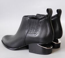 NEW ALEXANDER WANG Kori Cut Out Heel Ankle Bootie Shoe, EUR 36, Black Leather