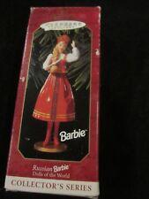 Hallmark Keepsake 1999 Ornament Dolls Of The World Collector'S Russian Barbie