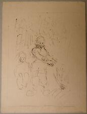 Peinture Original Encre EDOUARD GOERG (1893-1969) Scène de Camping EG32