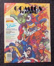 1984 COMICS FEATURE Magazine #29 VG- 3.5 No Posters - Secret Wars - X-Men