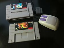 Super Nintendo SNES mouse and games lot Mario Paint and Eye Of The Beholder