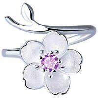Anello donna fiore anello Diamond Bend Size regolabile aperto Anelli Gioiel X7D9