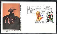 ESPAÑA SOBRE 1º DÍA 1982 MADRID 2644/45  MUNDIAL FUTBOL ESPAÑA 82