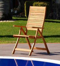 Poltrona  sedia sdraio in lego eucalipto con 5 regolazioni arredo giardino relax