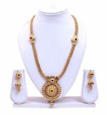 Bollywood Indian Designer Handmade Multicolor Stone Kundan Necklace Earing Set