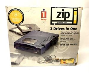 iomega ZIP Parallel Port 100mb Model No. Z100P2 w/ Zip and Printer Cable