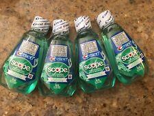 4 Crest Scope Classic Mouthwash 36mL 1.2 oz Original Mint Flavor NEW Travel Size