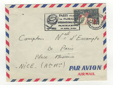 France 1 timbre sur lettre 1964 tampon Paris flamme les Floralies /L340