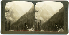 Stereo Canada, Rocky Mountains, Alberta, Mt. Aberdeen and Mt. Lefroy, 1906 Vinta