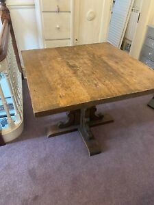 Oak Restaurant Table 39.5 inches by 40 inches, 2 inches thick from San Francisco