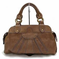 Authentic VALENTINO Hand Bag  Browns Leather 300964