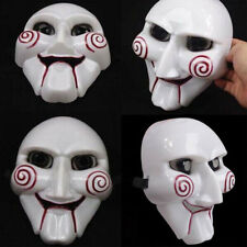 Saw Jigsaw Puppet Mask Halloween Horror Costume Fancy Dress Unisex Party Cosplay