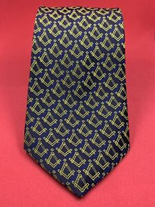 New Lodge Gift Craft Masonic Tie Gold Square & Compass Masonic Regalia Neck tie