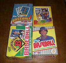 4 1989 UNOPENED BASEBALL CARD BOXES TOPPS - FLEER - BOWMAN - DONRUSS