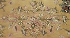 Very Antique Embroidered Linen Panel Vv665