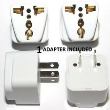 Universal EU UK AU to US USA AC Travel Power Plug Adapter Outlet Converter White