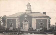 NEEDHAM, MA ~ PUBLIC LIBRARY ~ REAL PHOTO POST CARD ~ used