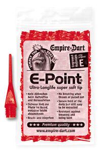 """Empire Dart Softdartspitzen - E-Point - 1/4"""" - lang - rot - 500 Stück"""