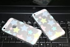New Cute Star Soft Silicone Transparent Iphone 5/5s/SE Back Cover Case