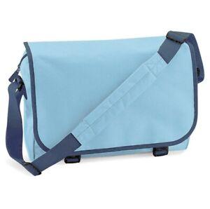 Bagbase Messenger Bag BG21 Sky Blue & French Navy shoulder casual 11 litres BNWT
