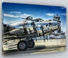 WWII BOMBER AIRCRAFT CANVAS PICTURE PRINT WALL ART CHUNKY FRAME LARGE 236-2